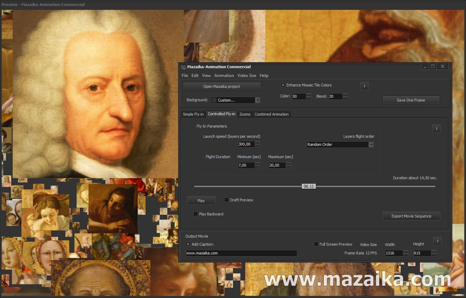 Mazaika-Animation - Make amazing photo mosaic animation!